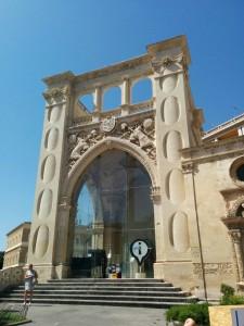 Fassade aus Pietra Leccese