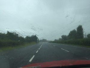It's raining...