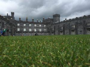 Auf dem Rasen von Kilkenny Castle