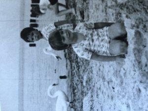 An der Ostsee, ich schätze Sommer 1982.